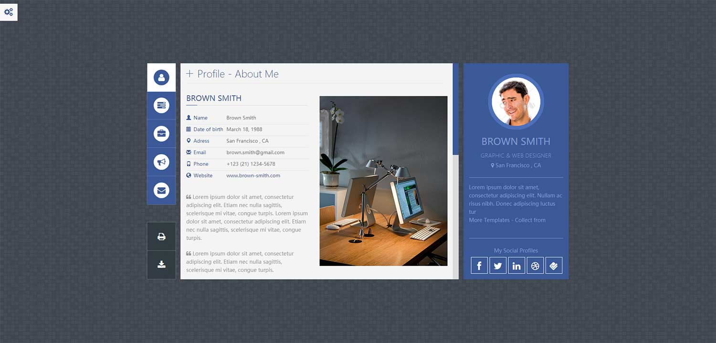 FlexyCard程序员设计师工程师web个人简历博客blog网站模板