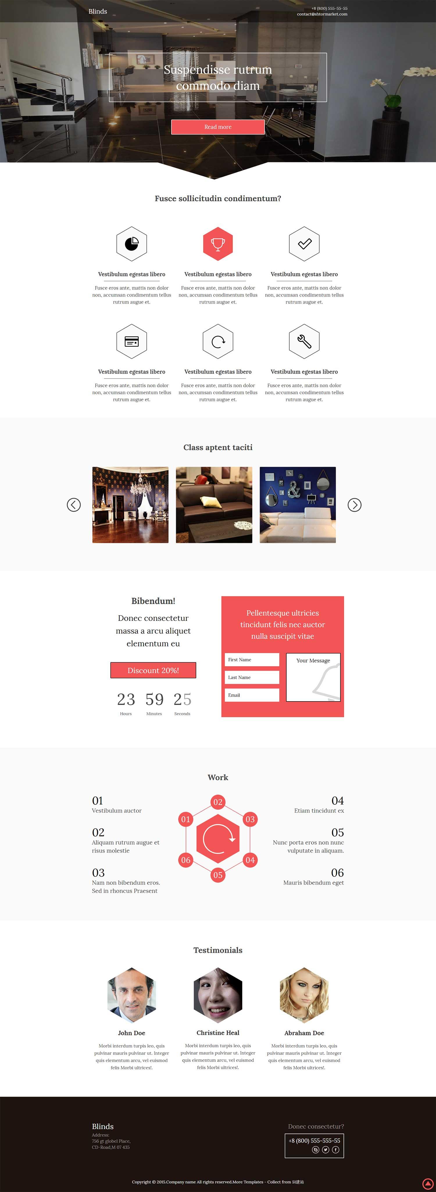 创意室内设计工作室官网响应式模板