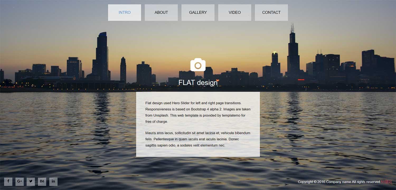 CSS3仿Flash动画横向全屏切换个人博客模板