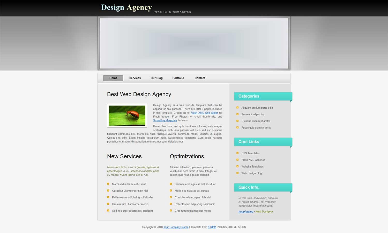 web Design Agency大气漂亮的设计师网页模板