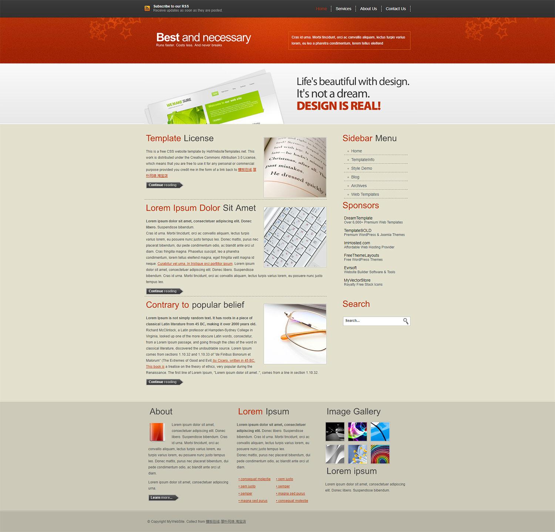 HotWebsite 橙色大气的DIV+CSS模板