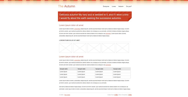 多彩简单单栏布局博客css模板