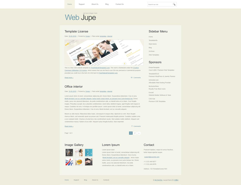 淡灰色个人博客web20模板