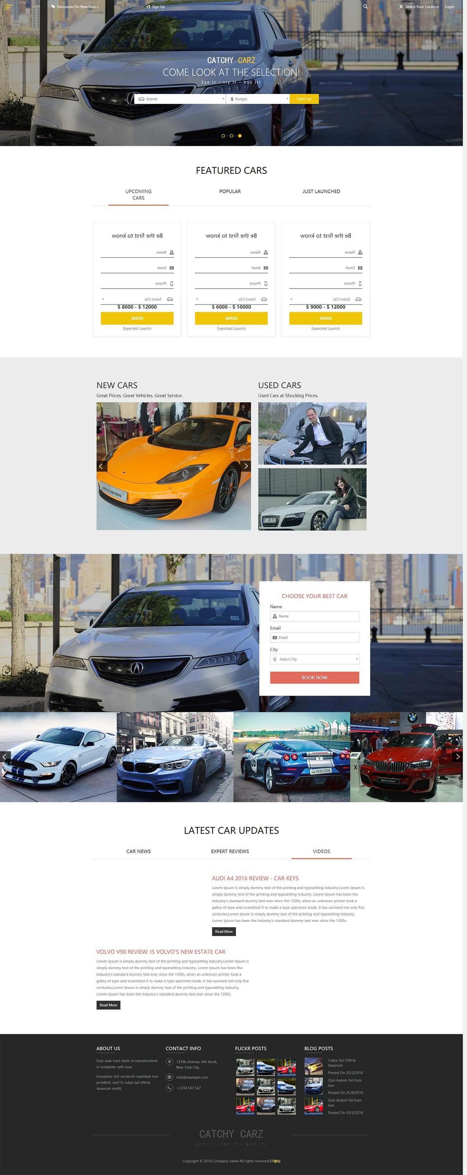 二手车交易市场网站模板里面包含24个子页面,适合个人二手轿车买卖网站模板