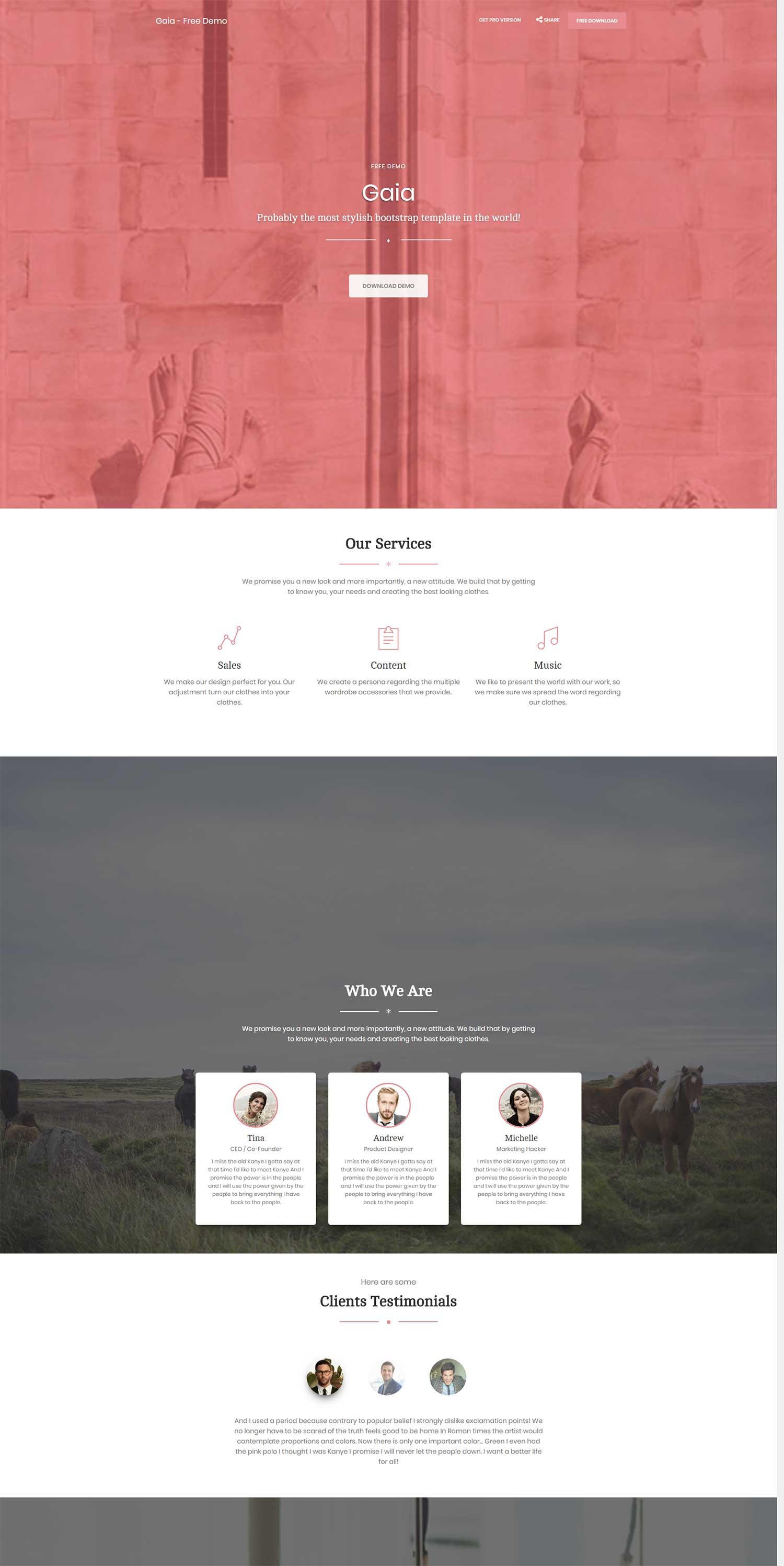 淡粉色全屏个人单页web简历响应式bootstrap模板