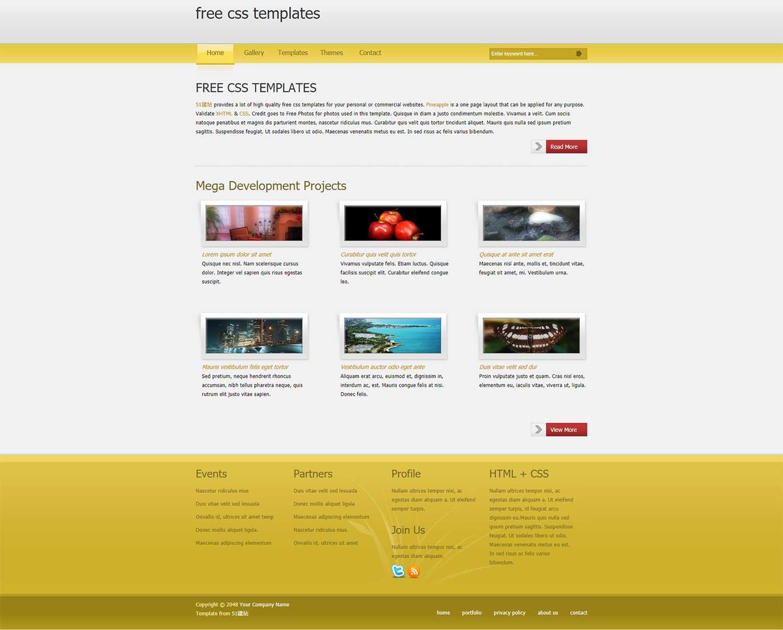 淡黄色简洁的博客html模板
