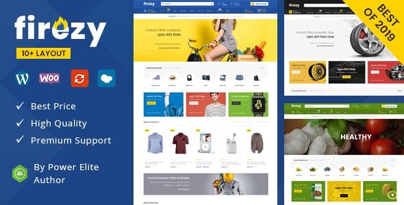 Firezy – 多行业在线商店模板WooCommerce主题