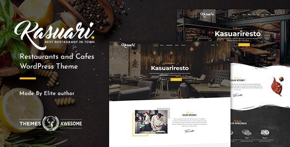 Kasuari – 餐馆咖啡厅网站模板WordPress主题