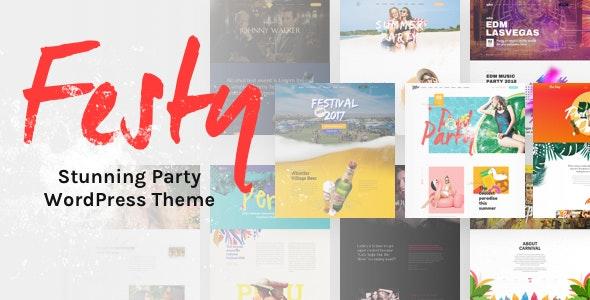 Festy – 活动会议派对WordPress网站模板 – v1.1.1