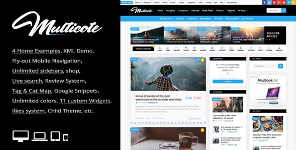 Multicote – 新闻博客杂志WordPress主题 – v2.1
