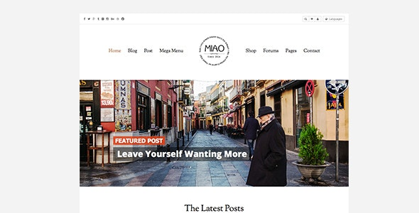 Miao - 时尚杂志博客模板WordPress主题-创客云