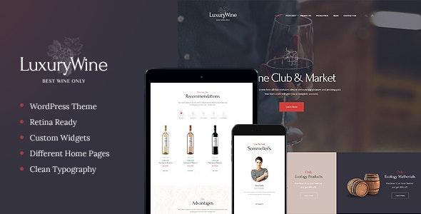 Luxury Wine - 酒类商店葡萄园WordPress主题-创客云