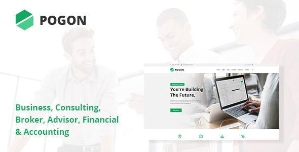 Pogon - 商业金融公司WordPress主题-创客云