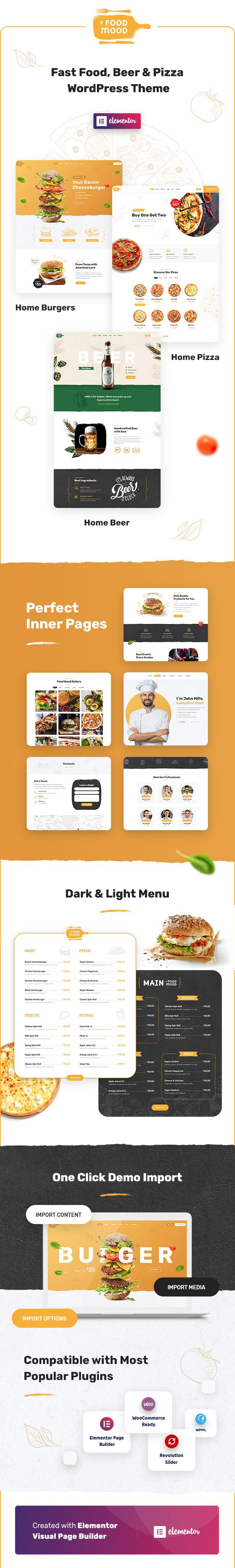 Foodmood - 咖啡厅餐饮外卖WordPress主题-创客云