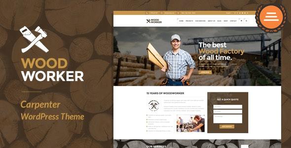 WoodWorker - 家政便捷服务网站WordPress主题-创客云