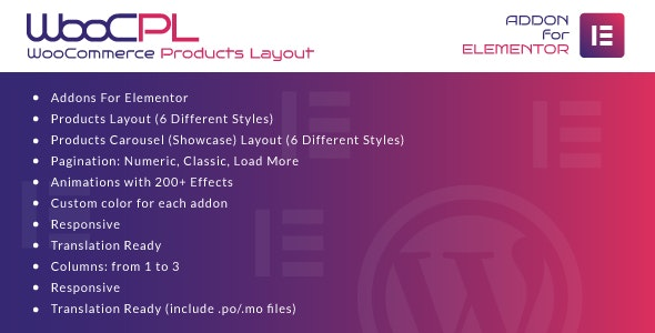 WooCommerce Products Layout for Elementor  - 商店产品布局WordPress插件-创客云