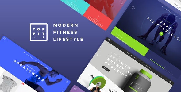 TopFit – 健身房瑜伽网站模板WordPress主题 – v1.8
