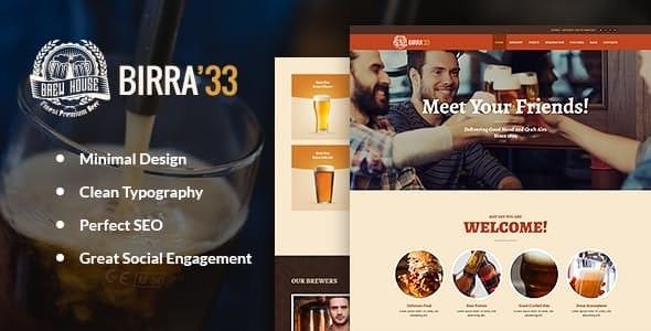 Birra33 -酿酒厂啤酒俱乐部WordPress主题-创客云