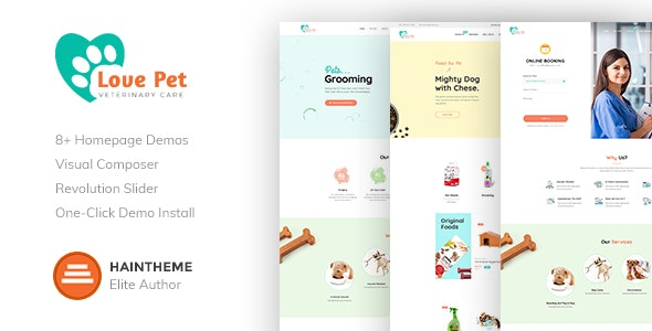 LovePet - 宠物用品商店模板WordPress主题-创客云