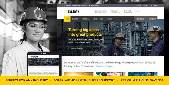 Factory - 工厂工业商业WordPress主题-创客云