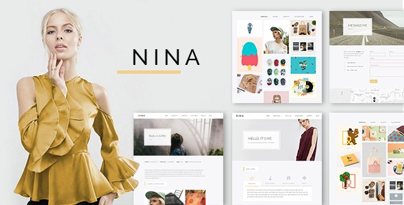 Nina - 极简创意作品展示网站WordPress主题-创客云