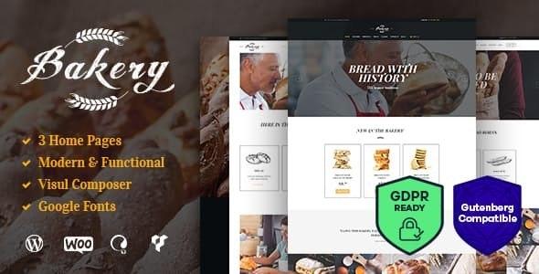Bakery - 面包店糖果店糕点店WordPress主题-创客云