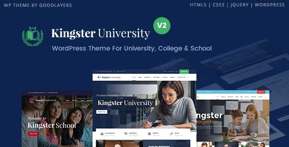 Kingster – 教育培训学校网站WordPress主题 – v2.0