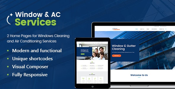 AC Services - 空调供暖公司wordpress主题-创客云