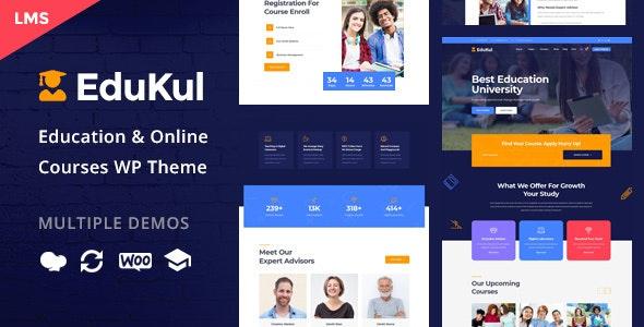 Edukul - 在线培训课程WordPress主题-创客云