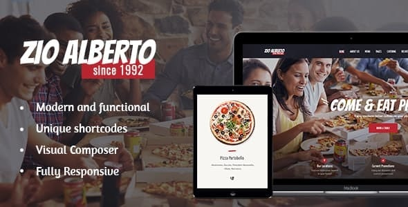 Zio Alberto - 比萨饼餐厅咖啡馆WordPress主题-创客云