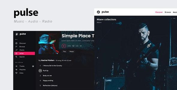 pulse – 音乐乐队网站模板WordPress主题