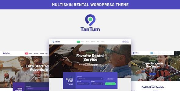 TanTum - 汽车踏板车自行车租赁服务WordPress主题-创客云