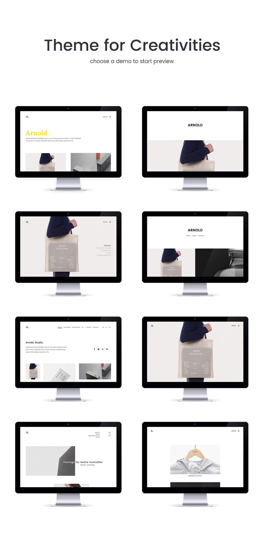 Arnold - 迷你产品展示网站WordPress模板-创客云
