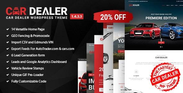Car Dealer – 汽车经销商汽配网站WordPress主题 – v1.4.3.3
