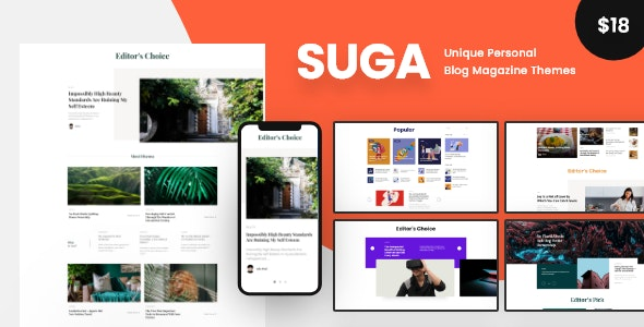 Suga - 新闻杂志网站模板WordPress主题-创客云