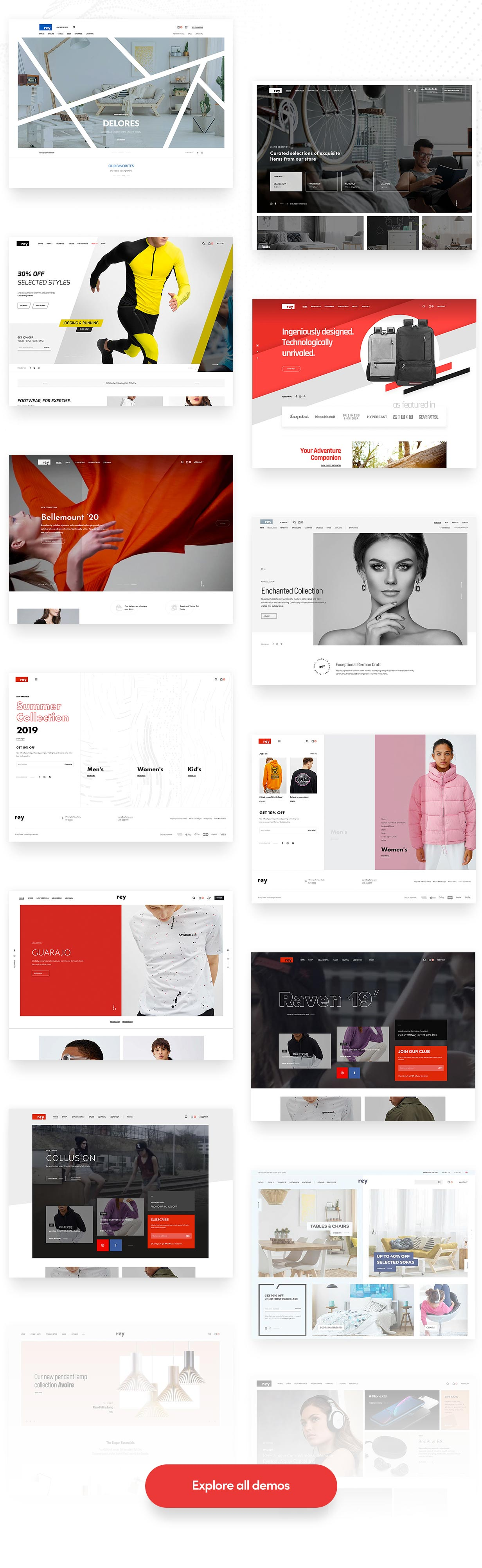 Rey -服装家具商品商店WordPress模板-创客云