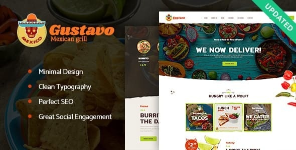 Gustavo - 烧烤酒吧餐厅WordPress主题-创客云