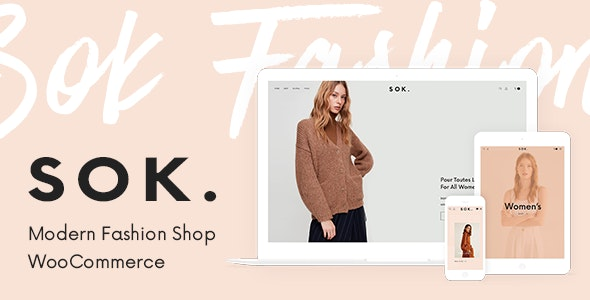 Sok - 现代时尚服饰网站模板WordPress主题-创客云