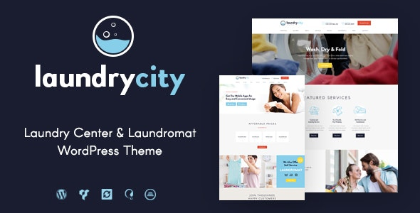 Laundry City - 干洗店洗涤服务WordPress主题-创客云