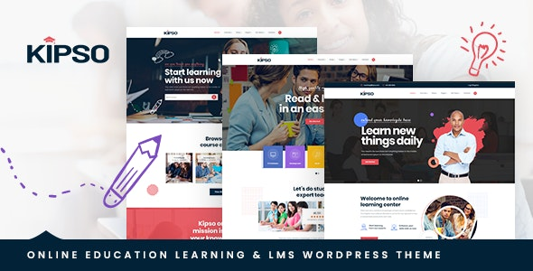 Kipso - 培训教育LMS网站模板WordPress主题-创客云