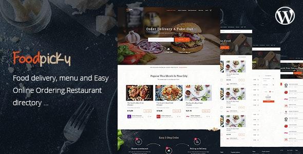 FoodPicky - 美食餐饮目录 WordPress 模板-创客云
