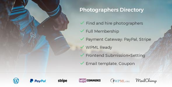 Photographer Directory - 摄影师目录WordPress插件-创客云