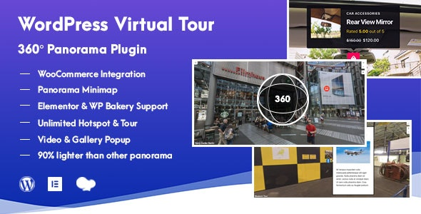 WordPress Virtual Tour 360 Panorama 虚拟现实360全景WordPress插件-创客云