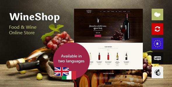 WineShop - 食品葡萄酒在线商店WordPress主题-创客云