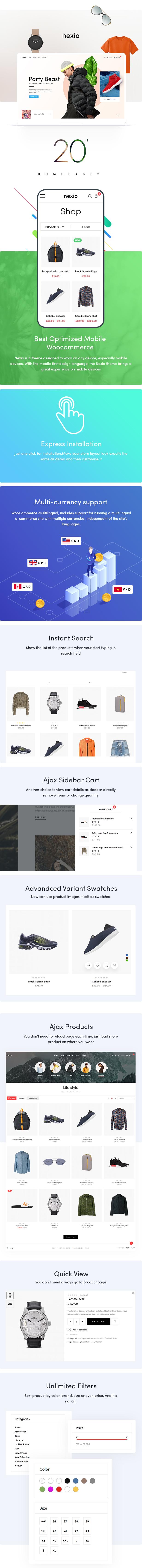 Nexio - 时尚服饰商店网站WooCommerce模板-创客云
