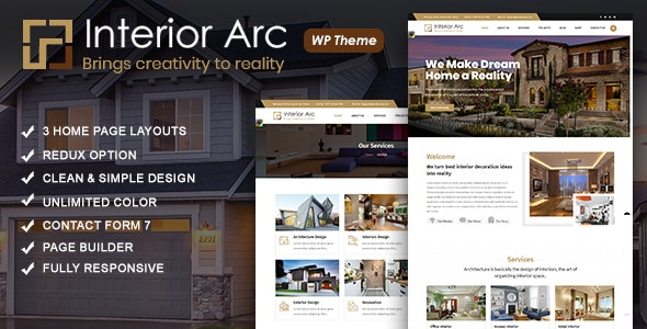 Interior Arc - 室内装饰建筑工程WordPress主题-创客云