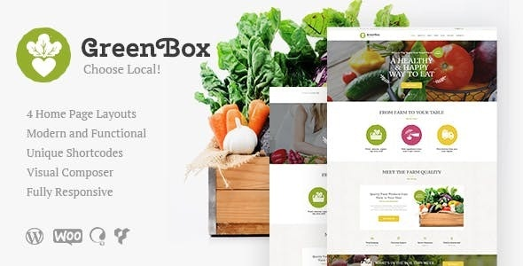 Green Box - 生态农场有机产品商店wordpress主题-创客云