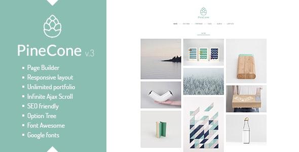 PineCone - 创意作品展示WordPress博客模板-创客云