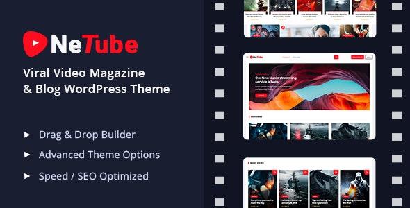 Netube - 视频杂志博客网站WordPress主题-创客云