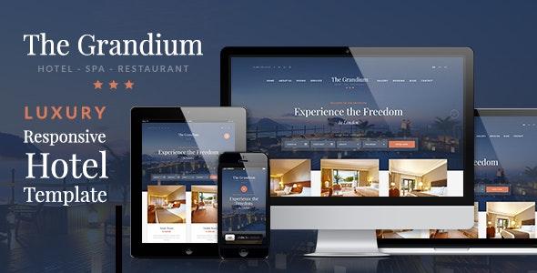 Grandium - 豪华酒店宾馆WordPress主题-创客云